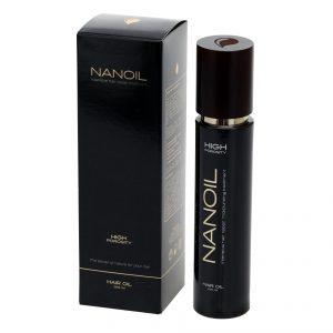 Olej do włosów Nanoil w trzech wersjach do włosów o różnej porowatości